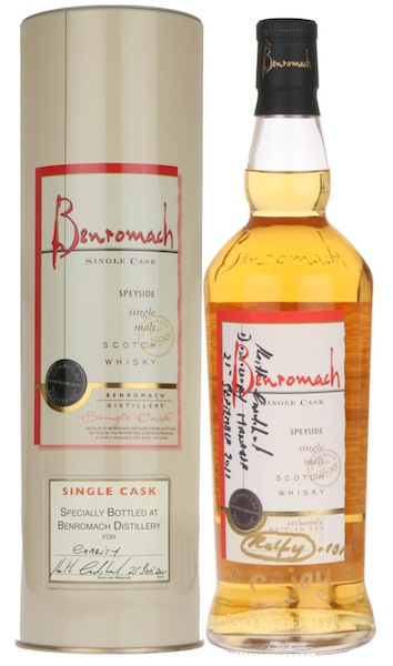 The Signed Bottle Of Benromach Single Cask