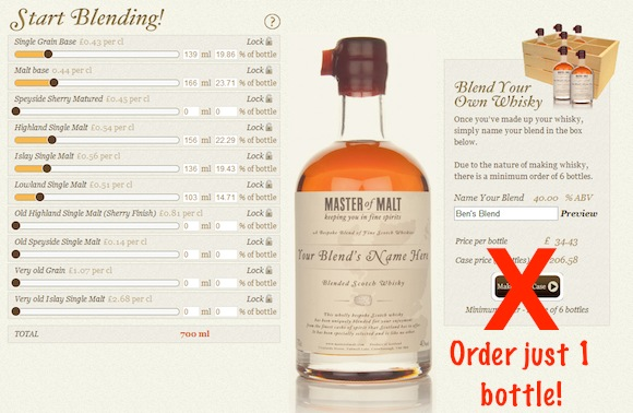 Master of Malt have reduced the minimum order from a case of 6, down to just one bottle!