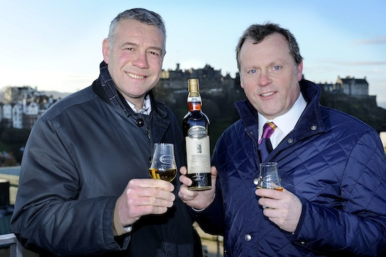 Scott Hastings (Scotland rugby legend) & Neil Boyd (Commercial Director at Ian Macleod Distillers)