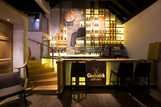 The newly re-designed Malt Barn whisky bar and restaurant