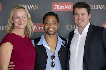 (left to right) Iliane Ogilvie Thompson, Cuba Gooding Jr. and James Slack