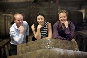 Glengoyne Distillery, Strathblane, Scotland. TV presenter, wine expert and newspaper columnist Olly Smith today visited the distillery for a one to one coaching session from distillery manager Robbie Hughes. Also present was Danielle Murphy from Ian MacLeod Distillers.