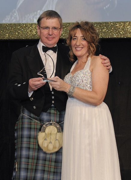 Daivd Urquhart pictured with Susan Young editor of The DRAM magazine