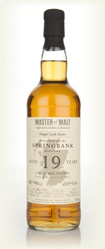 Springbank 19 Year Old Cask 129 - Single Cask (Master of Malt)