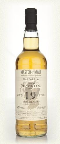 Malt Tasting: Deanston 19 Year Old - Single Cask (Master of Malt)