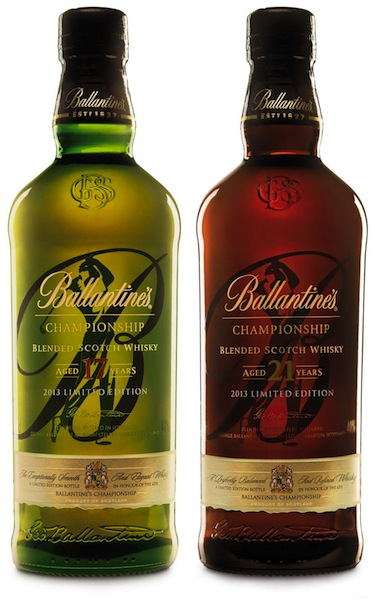 Ballantine's Limited Edition 17 and 21 Year Old Golf Packs