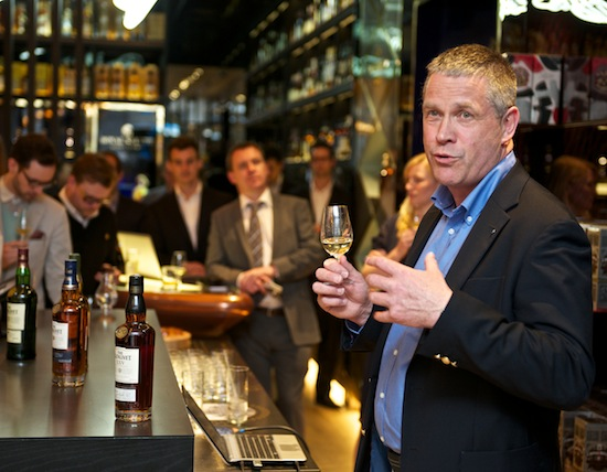 Alan Winchester leads the first tasting of The Glenlivet Alpha
