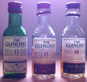 Glenlivet 12, 15 and 18 Year Olds