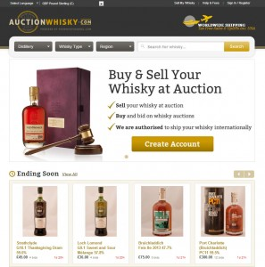AuctionWhisky.com's homepage