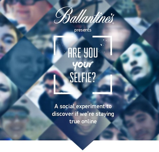 "Ballantine's Asks ""Are You Your Selfie?"""