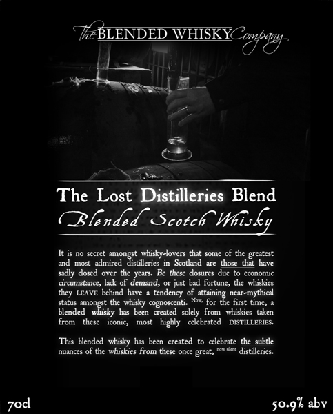 The Lost Distilleries Label Says It All!