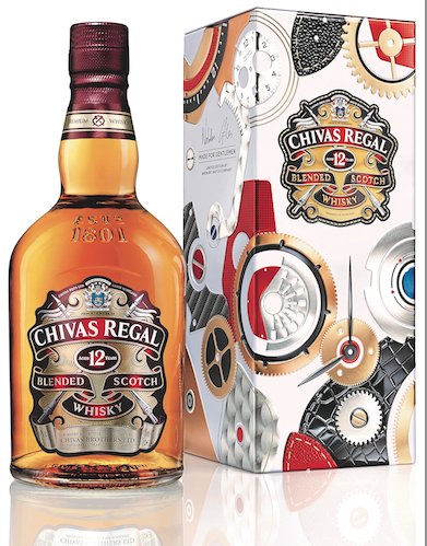 The Chivas 12 Made for Gentlemen by Bremont limited edition gift tin