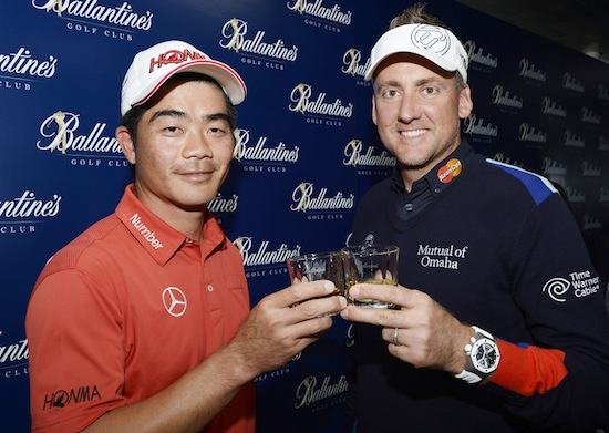 Celebrated Golfer Liang Wen-Chong with Ian Poulter
