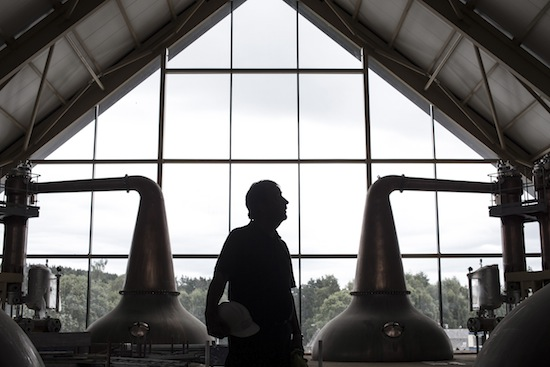 A Striking Pose Inside The new Dalmunach Distillery