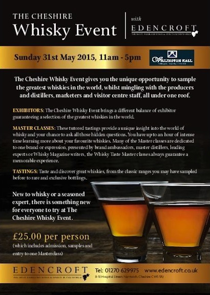 The Cheshire Whisky Event 2015