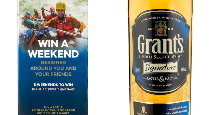 GRANT'S GIVES CONSUMERS THE CHANCE TO WIN A SIGNATURE WEEKEND