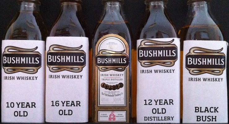 The five Bushmills malts!