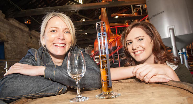 Irish Distillers CEO Anna Malmhake and Graduate Disitller Karen Cotter