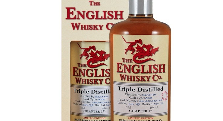 The English Whisky Co release another Limited Edition first for England!