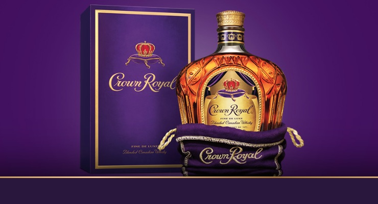 The Crown Royal Canadian Blended whisky in it's natty purple overtones!