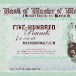 Master of Malt Issues Interest-Bearing Gift Vouchers – Just In Time For Christmas!