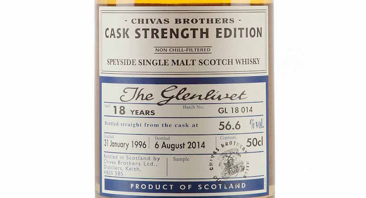 Glenlivet 18 Year Old - 1996 / Cask Strength Edition £ 53.88