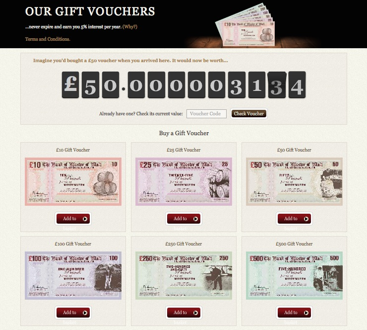 Check the value of your voucher at any point in time!