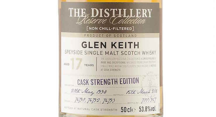 Glen Keith 17 Year Old - 1998 / Cask Strength Edition £84.00