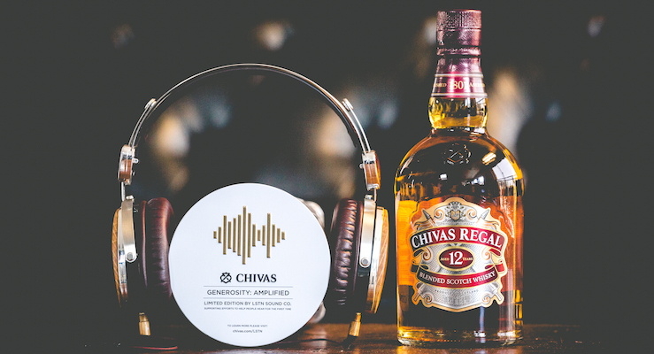 Chivas Regal partnership with LSTN Sound Co.