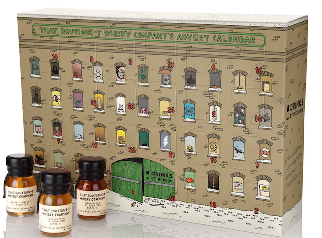 Drinks by the Dram's 2016 Advent Calendar range also includes calendars filled with single cask whiskies, mezcal, gin and more.