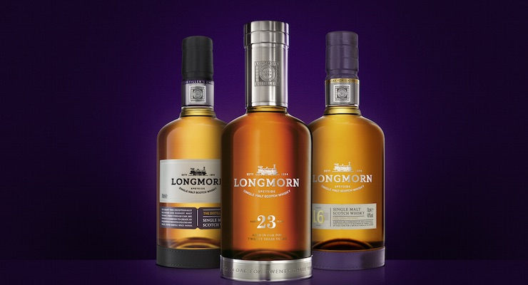 The Longmorn range; Longmorn 23 Year Old, Longmorn 16 Year Old and Longmorn The Distiller's Choice