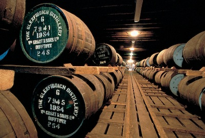 Glenfiddich storage barrels
