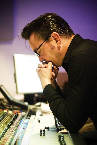 Richard Hawley at work in the studio